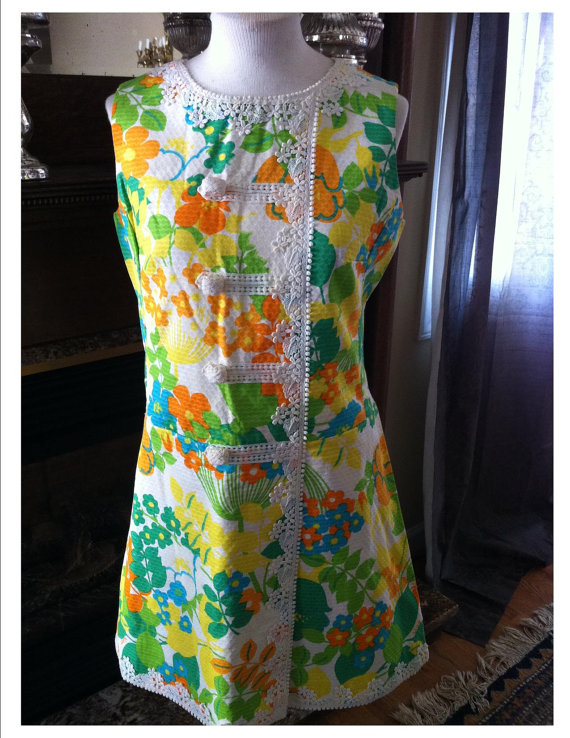 This dress on Etsy isn't much cheaper, but the lace is what makes it so kitschy, it's classy.