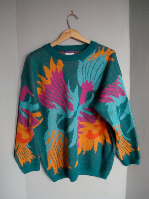 Pair with some tight black jeans and your HOTcliff Huxtable (via Etsy).