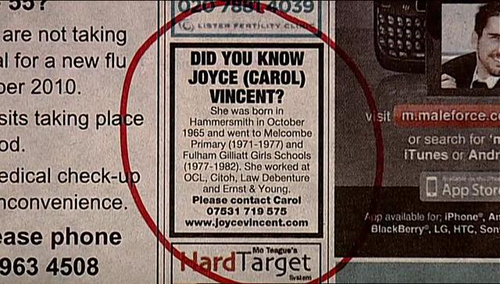 The ad filmmaker Carol Morley used to find information.