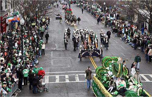"The St. Patrick's Day parade in Southie. The general vibe is, ""kiss me, I'm Irish/pretty please  don't kill me if I'm not."""
