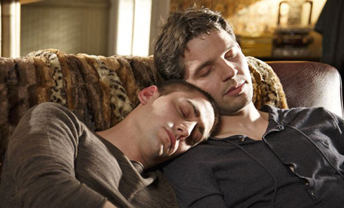 Even if your werewolf and vampire do get along (as on Being Human UK), do they really need to snug?