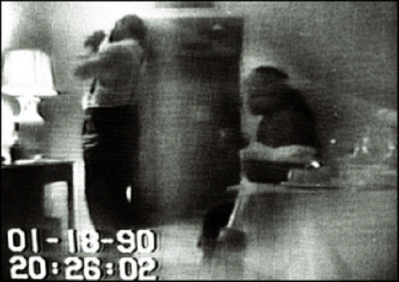 "Barry being ""set up"" (smoking crack) in 1990 on FBI surveillance tape."