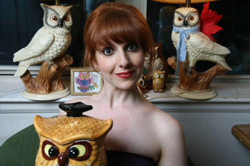 The author and her owls.