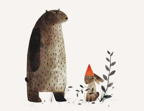 Two of Sasha's favorite animals from the book, plus the infamous hat. Spoiler alert, the rabbit is in for it.