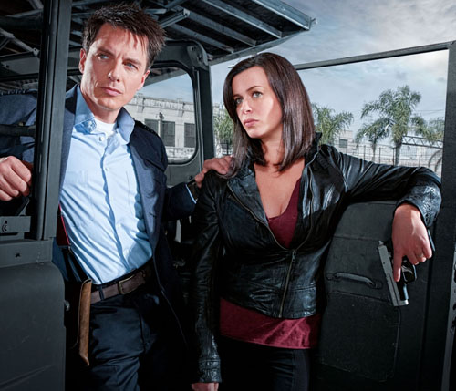 John Barrowman (the most famous Canadian gay man since  Scott Thompson ) and Eve Myles (Welsh, proud of her teeth), the international yin and yang of  Torchwood .