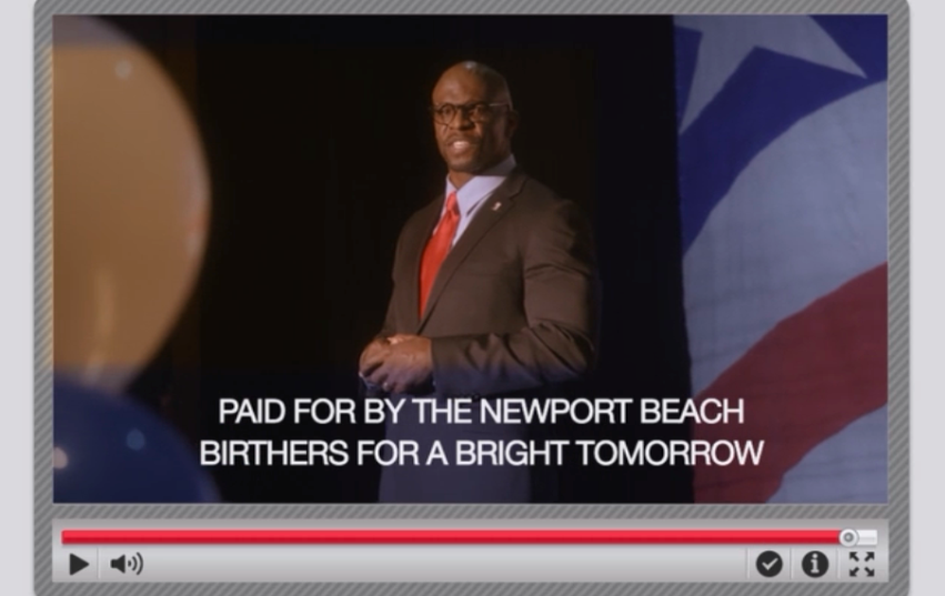 Paid for by the Newport Beach Birthers for a Bright Tomorrow.