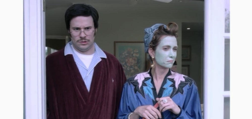 The best kind of odd couple: Seth Rogen as a young George Bluth, Sr. and Kristen Wiig as a young Lucille