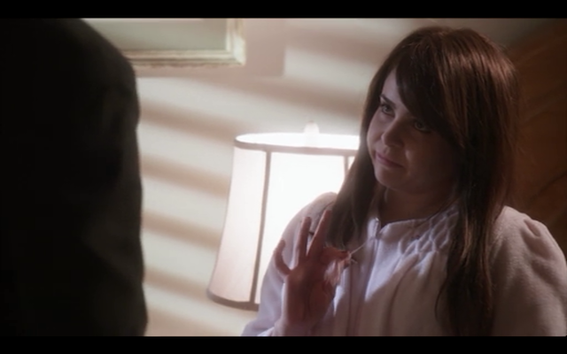 "Mae Whitman as Anne Veal, a.k.a. ""Egg,"" a.k.a. ""Blank,"" a.k.a. ""... Her?"""