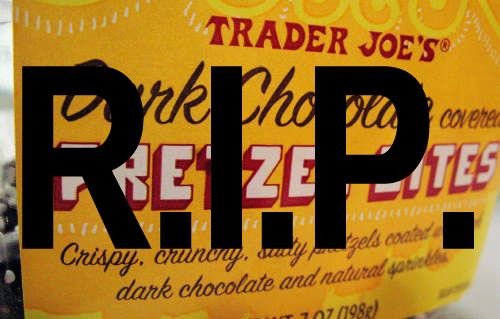 In loving memory of Trader Joe's Dark Chocolate Pretzel Bites.
