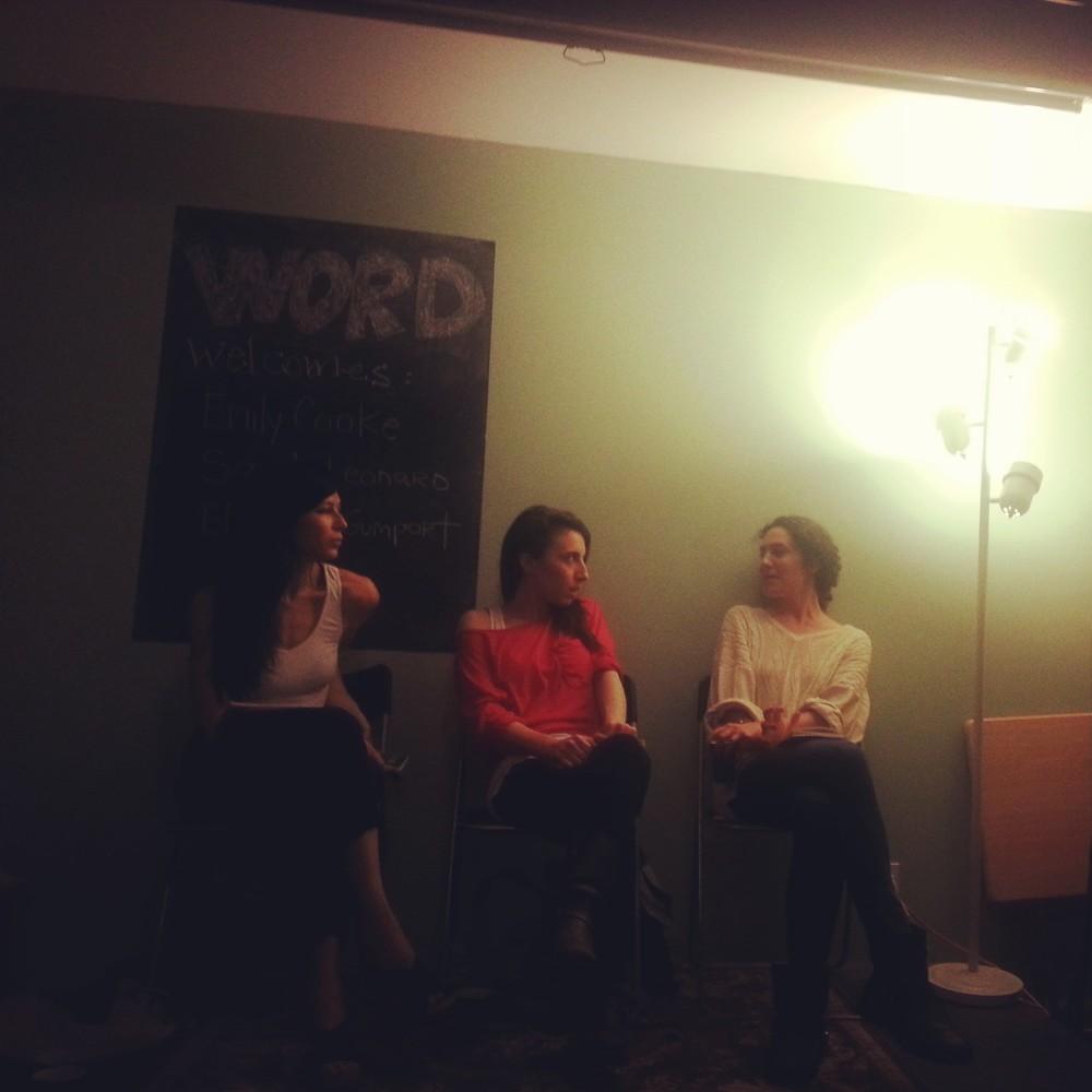 Left to Right: Emily Cooke, Elizabeth Gumport, Sarah Leonard