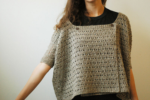 This is a summer sweater made by designer Paper Tiger from a Japanese Pattern. The Japanese make amazing patterns for all sorts of crafts, but, duh, they aren't so easy for the non-Japanese speaker to follow.
