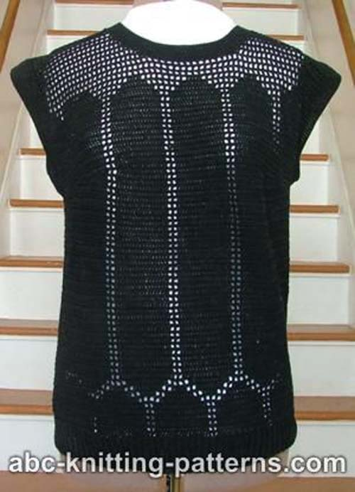 There's something vaguely classy about this top, making mesh into couture.