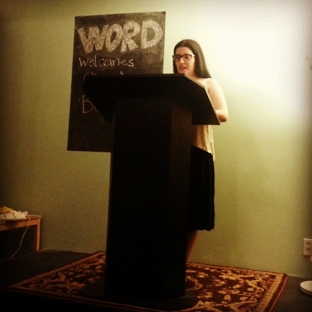 Shani Boianjiu reading at WORD Bookstore (Credit: Photograph by author)
