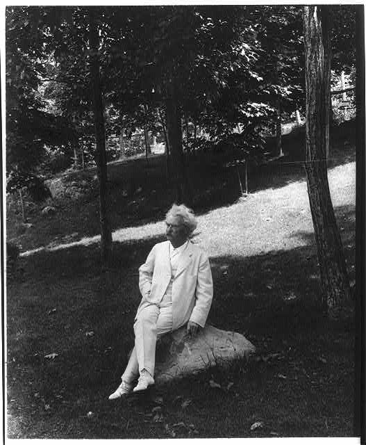 Twain likely abhorred that rock. (Credit: Library of Congress)