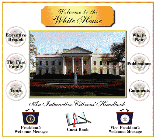 The first ever White House website