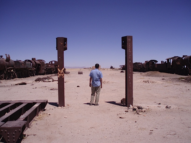 Abandoned train field, Atacama Desert
