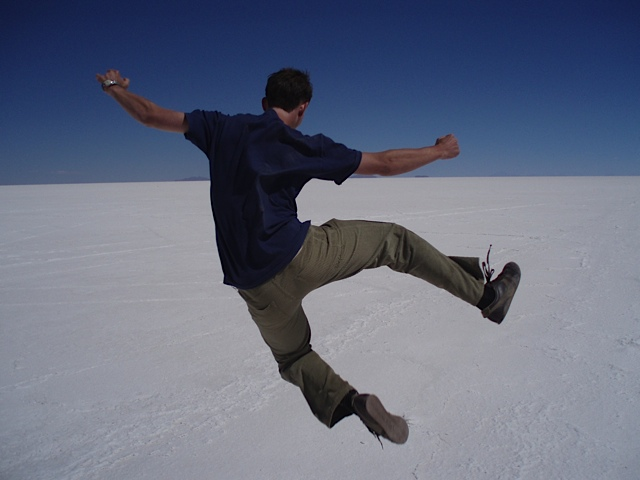 James in the Bolivian Salt Flats