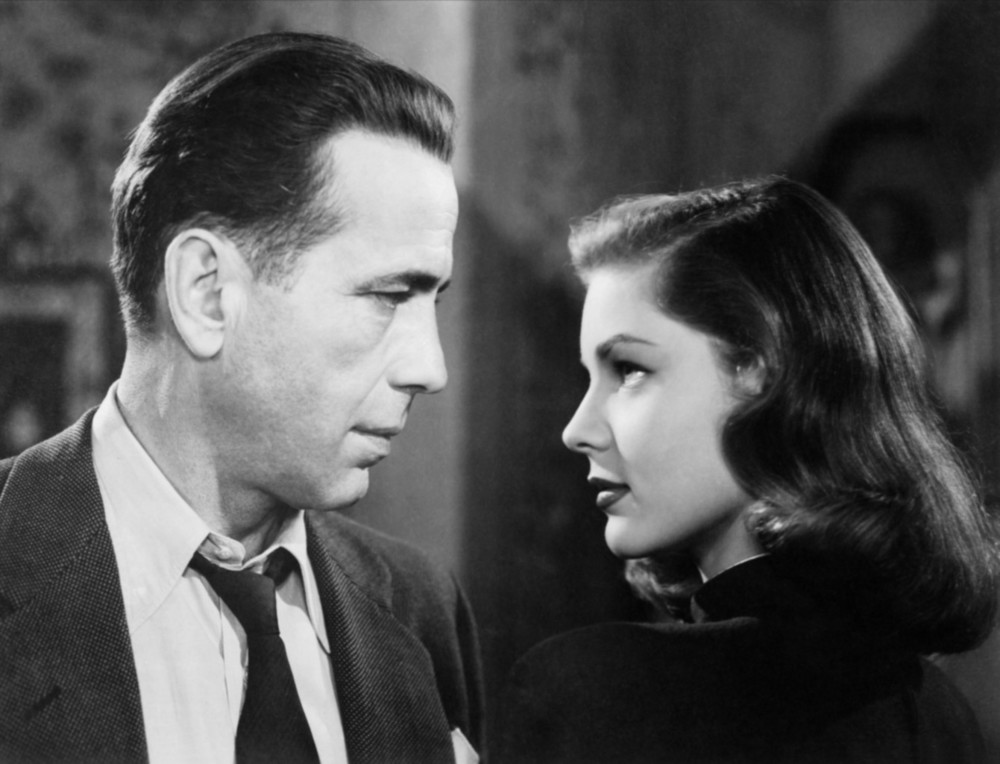 Lauren Bacall as Vivian Rutledge and Humphrey Bogart as Philip Marlowe in  The Big Sleep