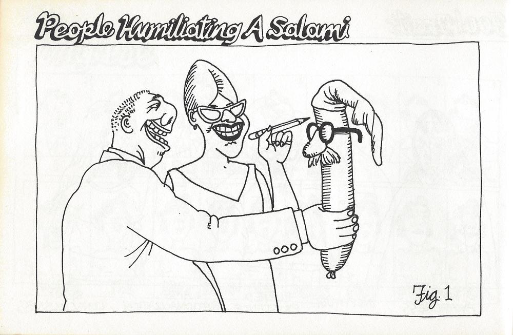 People Humiliating a Salami