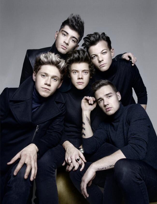 One Direction posing for the British GQ