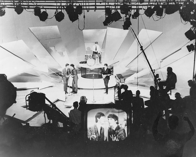 The Beatles on  The Ed Sullivan Show , February 9, 1964 (Credit: Image from Flickr user  B Rosen ; used with Creative Commons license)