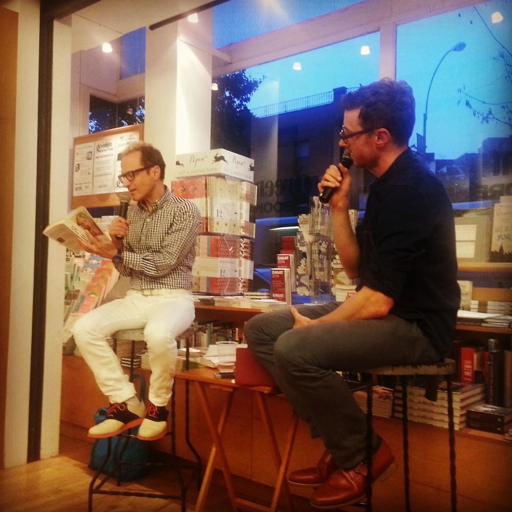 Wayne Koestenbaum and Christopher Schmidt at Greenlight Bookstore
