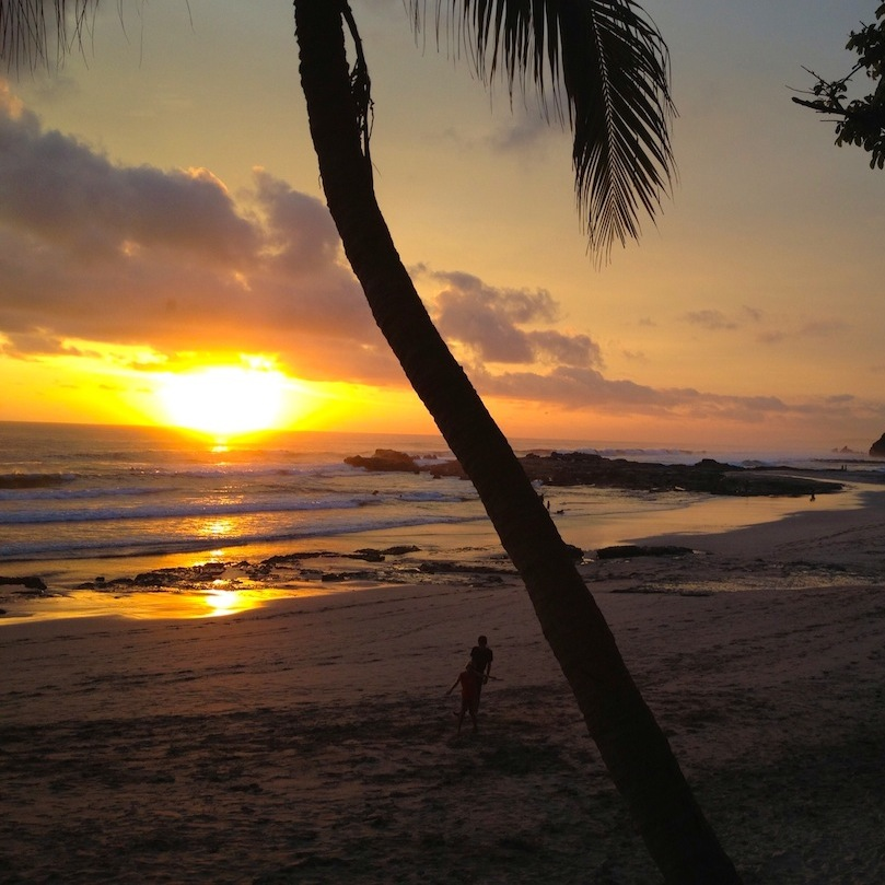 Sunset at Pelada Beach, Costa Rica.JPG