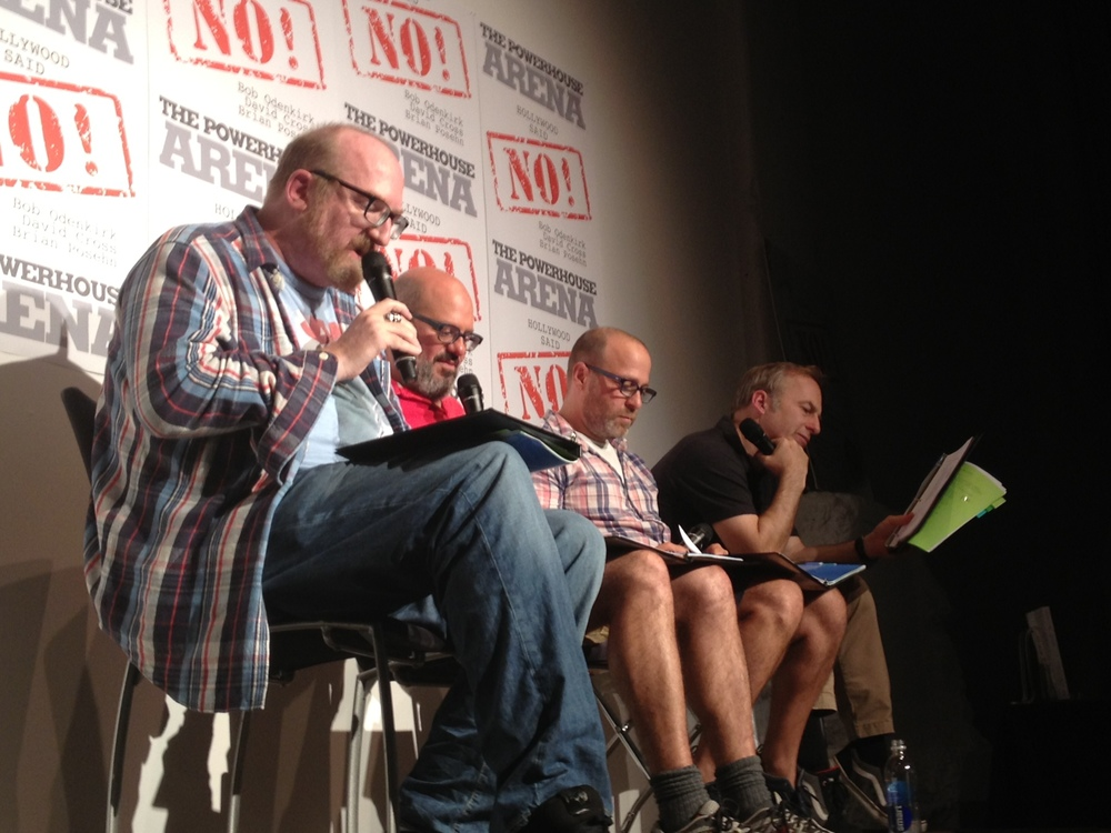 [Left to right:] Brian Posehn, David Cross, Jon Benjamin and Bob Odenkirk at powerHouse Arena