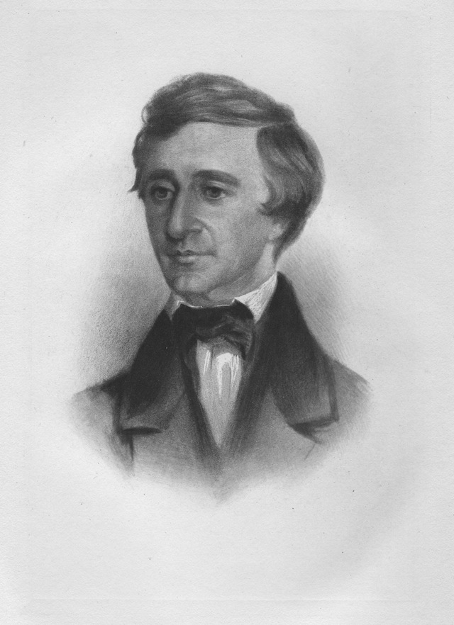 Portrait of Henry David Thoreau around age 37