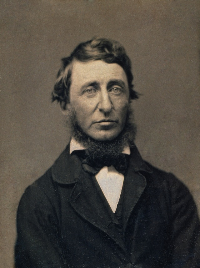 Daguerreotype of Thoreau around age 39