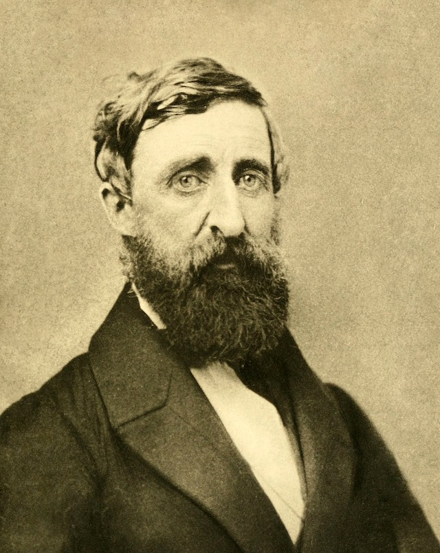 Photograph of Thoreau around age 44