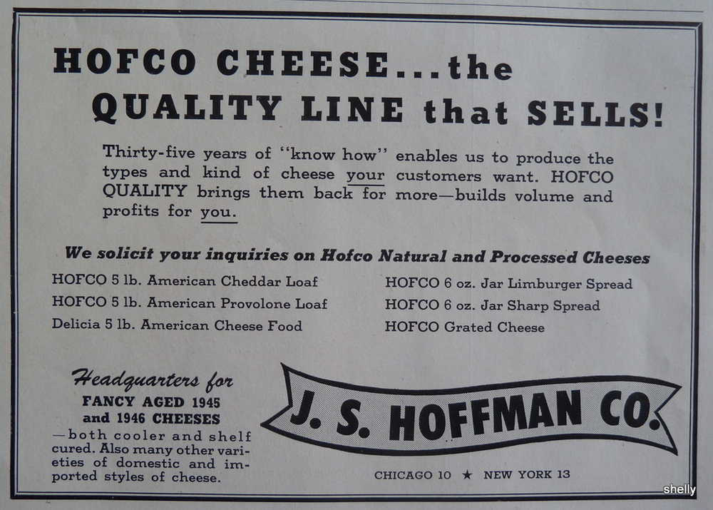 A vintage Hofco ad (on sale  on eBay )