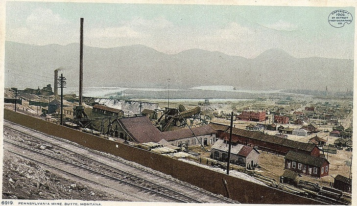 Vintage postcard of Butte, Montana (Credit: Image from Flickr user jasonwoodhead23; used with Creative Commons license)