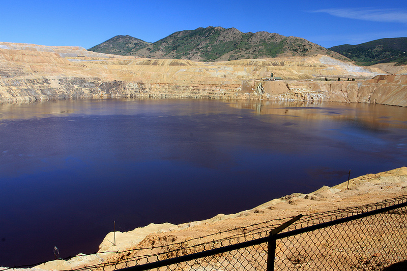The Berkeley Pit in Butte (Credit: Image from Flickr user TravelingOtter; used with Creative Commons license)