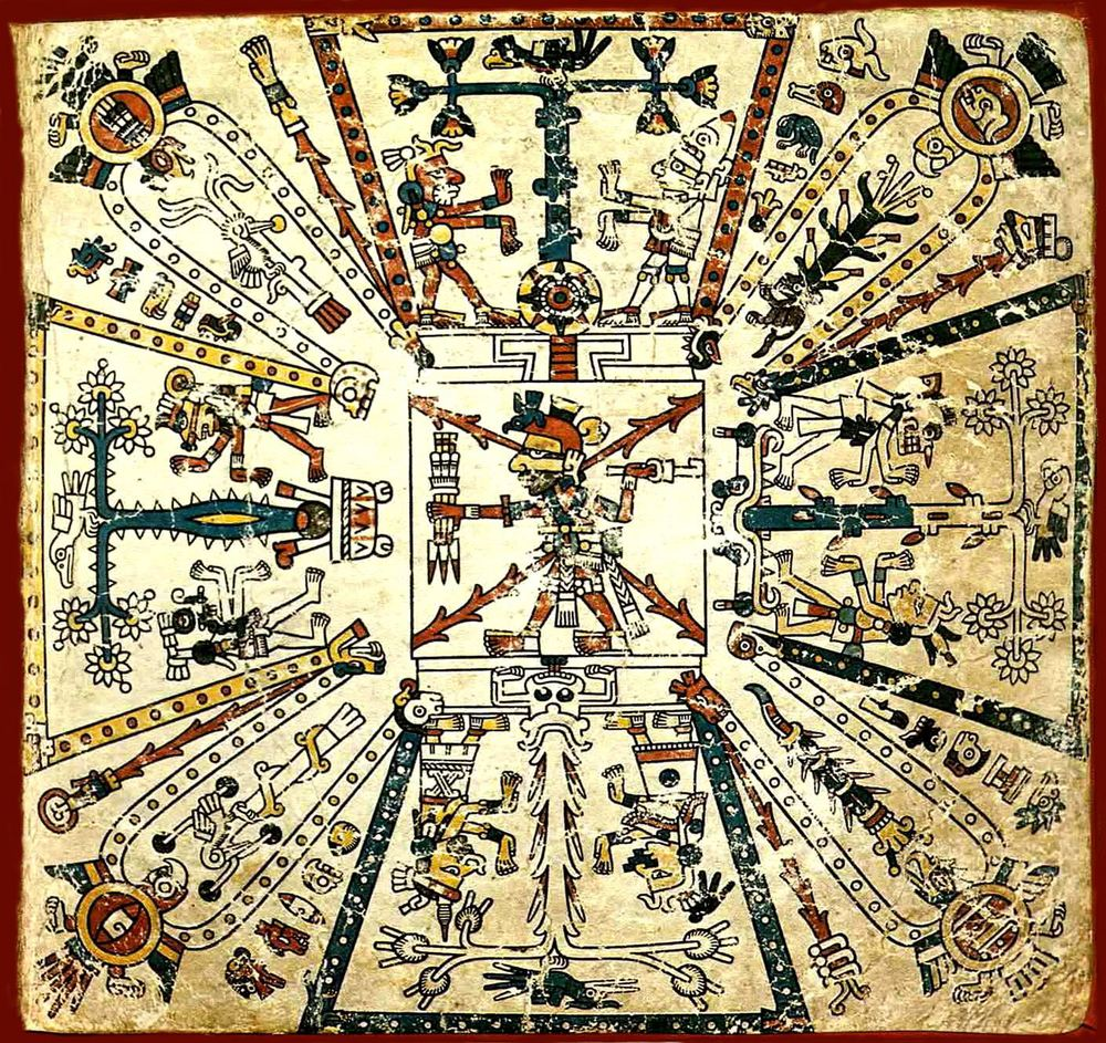 The    Codex Fejérváry-Mayer   , an Aztec book