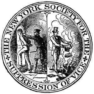 Seal of the New York Society for the Suppression of Vice