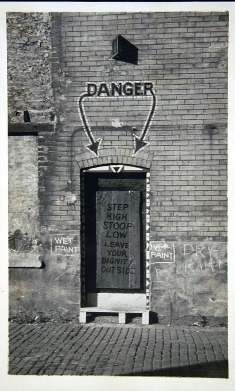 Entrance to the Dill Pickle Club (Credit: Photograph from Frontier to Heartland)