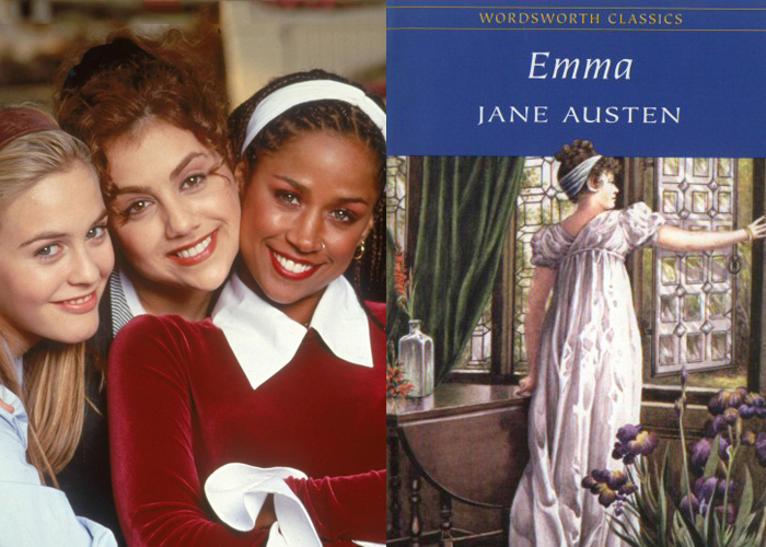 comparing clueless and emma [corresponds to miss taylor / mrs weston in the role of more experienced friend  to emma/cher] brittany murphy -- tai -- harriet smith: an unhip (``clueless'').