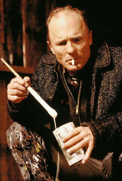 Actor Ed Harris portraying Pollock in the 2000 film Pollock