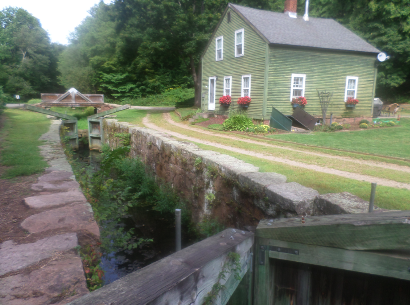 The only remaining original canal lock in Cheshire; the lock house to the right is still functional, and opens its doors as a museum once a month.