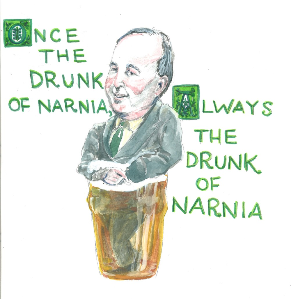 """Once the drunk of Narnia, always the drunk of Narnia."" — C. S. Lewis"