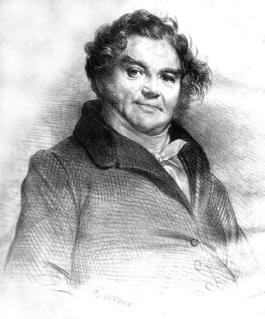 Nineteenth century portrait of Eugene Vidocq by Achille Deveria