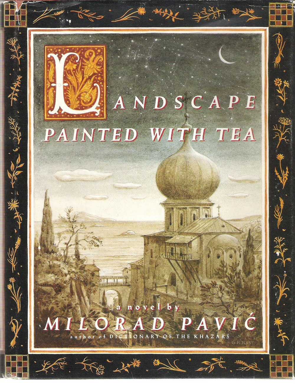 Landscape Painted with Tea by Milorad Pavić.jpg