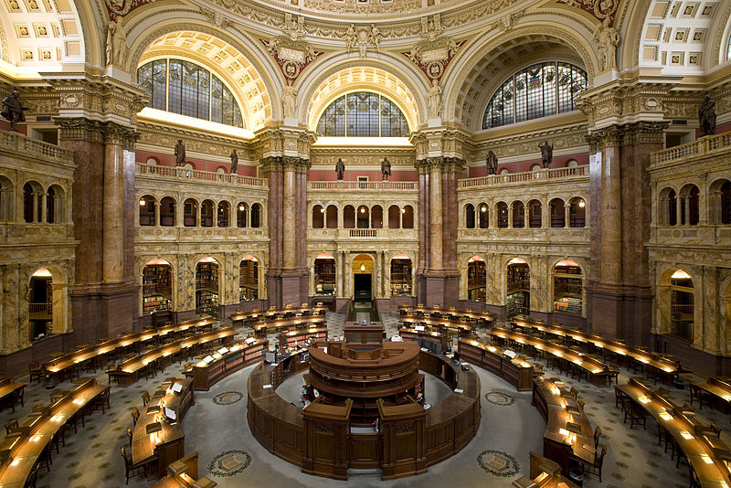 Library of Congress's main reading room