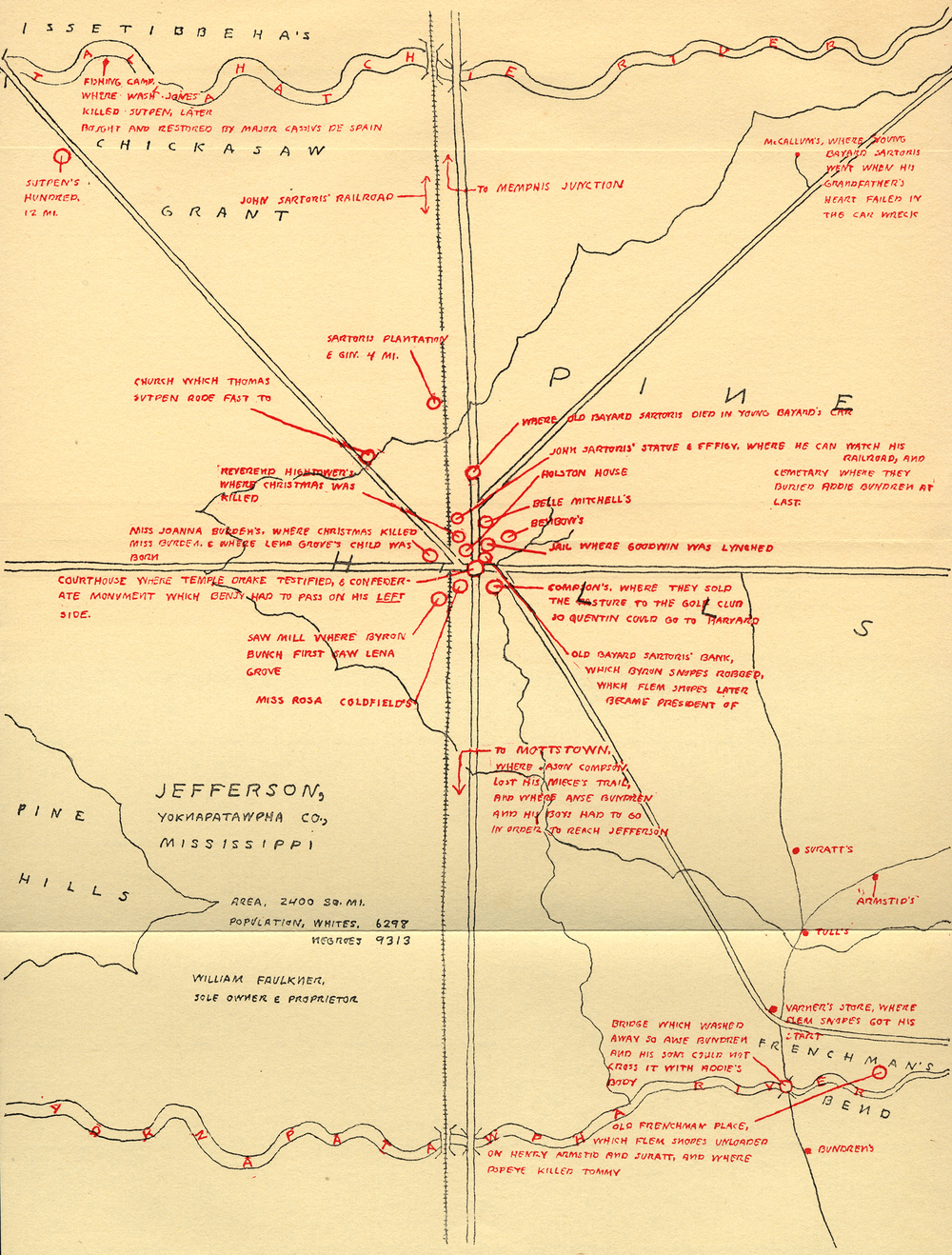William Faulkner's map of Yoknapatawpha.jpg