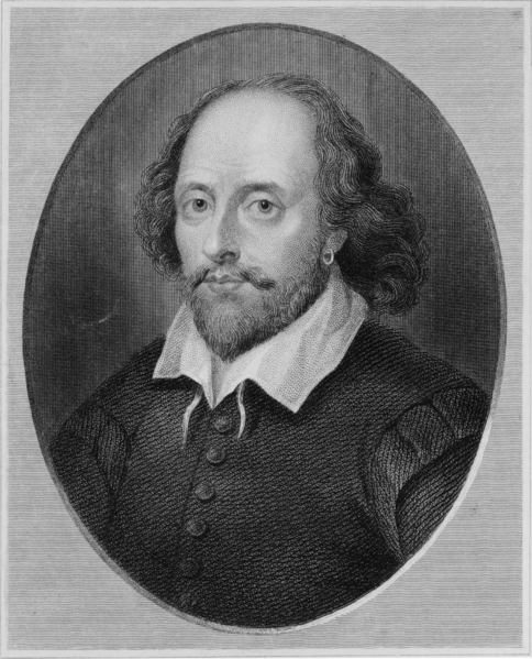 Engraving of Shakespeare from around 1790