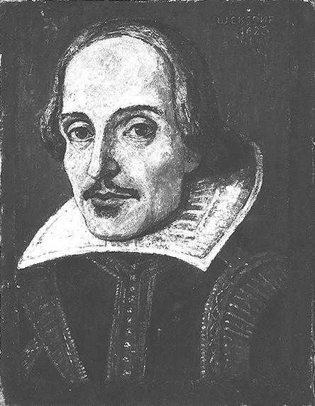 Painting of Shakespeare from 1939