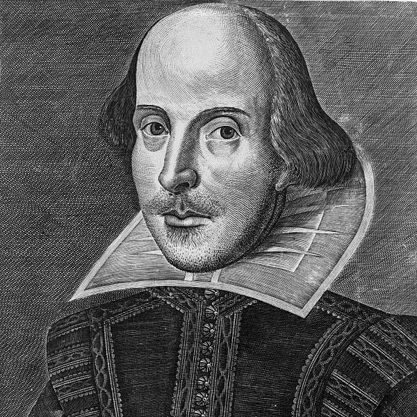 Engraving of Shakespeare from 1623