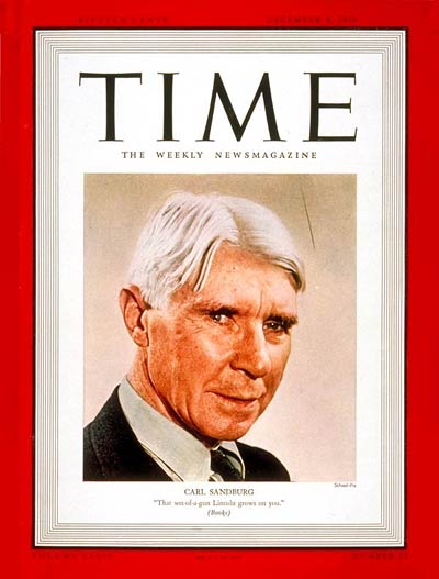 Carl Sandburg:     December 4, 1939