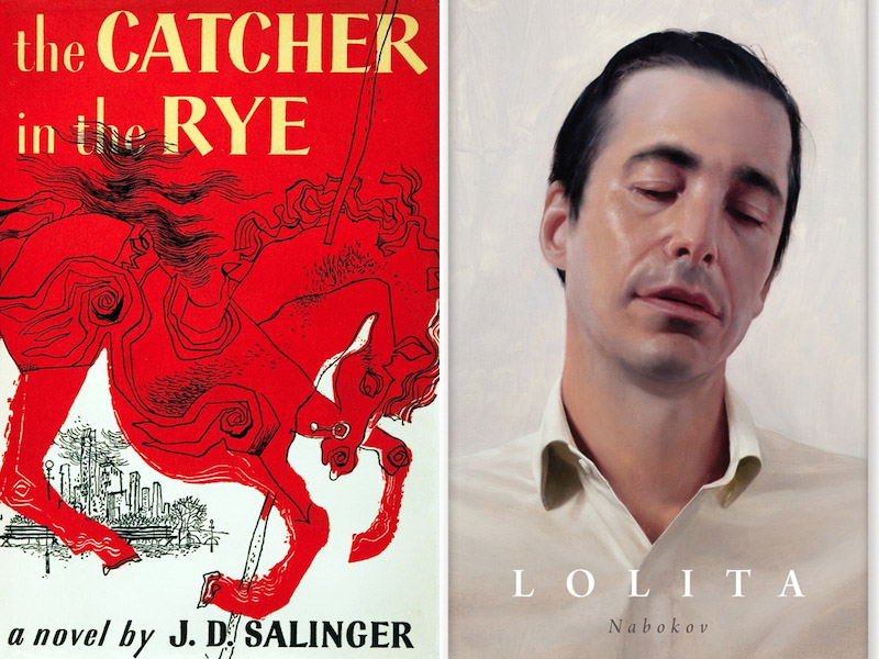 Lolita by Vladimir Nabokov Catcher in the Rye JD Salinger.jpg